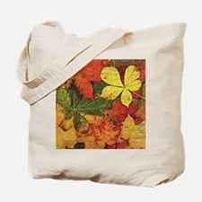 Textured Autumn Leaves Tote Bag