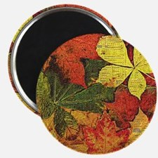 Textured Autumn Leaves Magnet