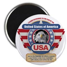 USA Pledge of Allegiance Magnets