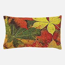 Textured Autumn Leaves Pillow Case