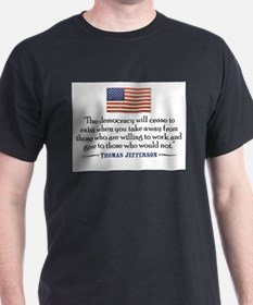 Cute Jefferson tyranny of government T-Shirt