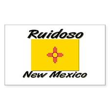 Ruidoso New Mexico Rectangle Decal