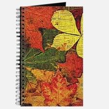 Textured Autumn Leaves Journal