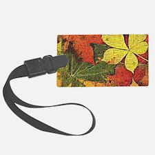 Textured Autumn Leaves Luggage Tag