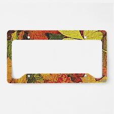 Textured Autumn Leaves License Plate Holder