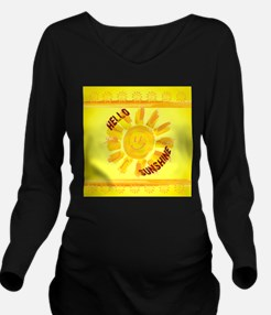 hello sunshine Long Sleeve Maternity T-Shirt