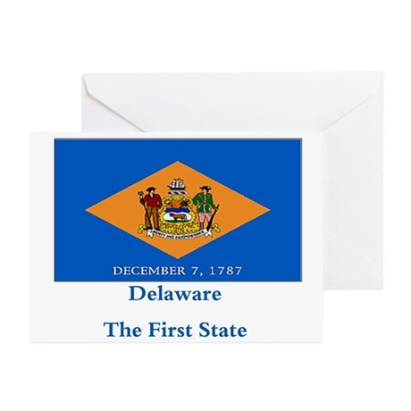 Delaware State Flag Greeting Cards (Pk of 20)