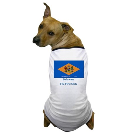 Delaware State Flag Dog T-Shirt