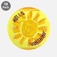 "hello sunshine 3.5"" Button (10 pack)"