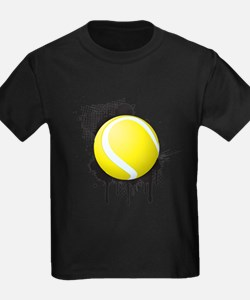 Abstract Black Ink Splotch with TENNIS Bal T-Shirt