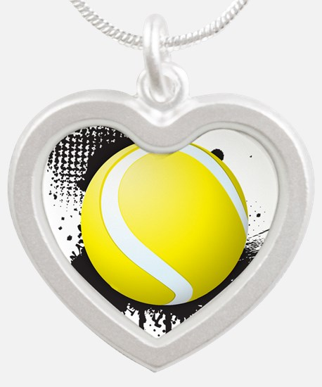 Abstract Black Ink Splotch with TENNIS B Necklaces
