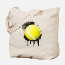Abstract Black Ink Splotch with TENNIS Ba Tote Bag