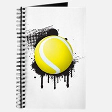 Abstract Black Ink Splotch with TENNIS Bal Journal