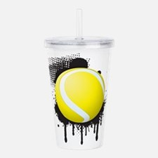 Abstract Black Ink Spl Acrylic Double-wall Tumbler