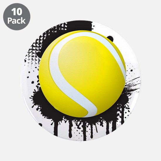 """Abstract Black Ink Splotch w 3.5"""" Button (10 pack)"""