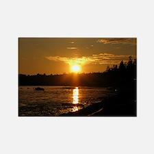 Birch Bay Sunset Rectangle Magnet