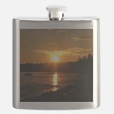 Birch Bay Sunset Flask