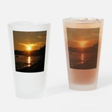 Birch Bay Sunset Drinking Glass