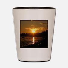 Birch Bay Sunset Shot Glass