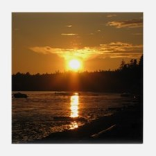 Birch Bay Sunset Tile Coaster
