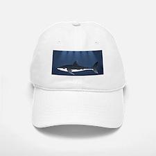 Danger Shark Below Baseball Baseball Cap