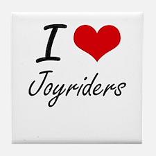 I Love Joyriders Tile Coaster