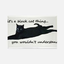 Unique Black cat Rectangle Magnet (10 pack)