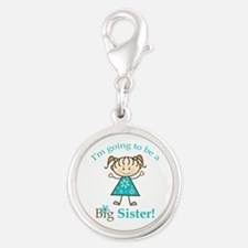 Big Sister to be Silver Round Charm