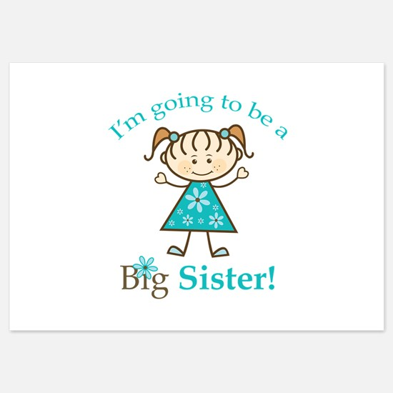 Big Sister to be Invitations