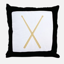 Drum Sticks Throw Pillow