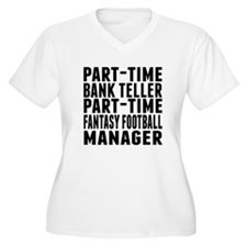 Fantasy Football Bank Teller Plus Size T-Shirt