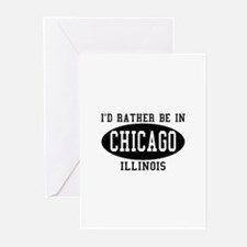 I'd Rather Be in Chicago, Ill Greeting Cards (Pk o
