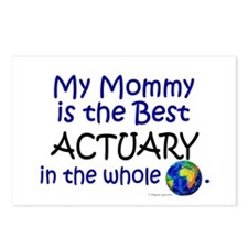 Best Actuary In The World (Mommy) Postcards (Packa