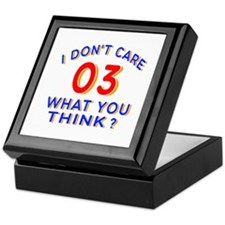 I Don't Care 03 What You Think? Keepsake Box