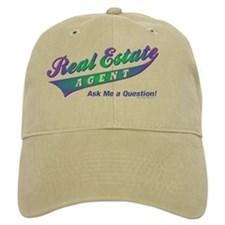 INVITE QUESTIONS (Purple Burst) Baseball Cap for Realtors