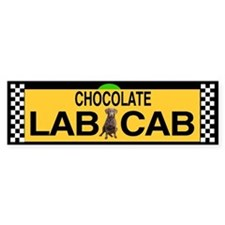 Chocolate Lab Bumper Car Sticker