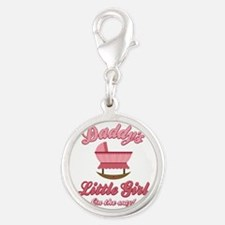 Daddy's Girl Silver Round Charm