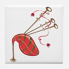 Bagpipe Tile Coaster