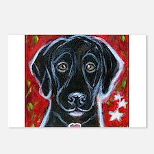 Cute Black labrador retriever Postcards (Package of 8)
