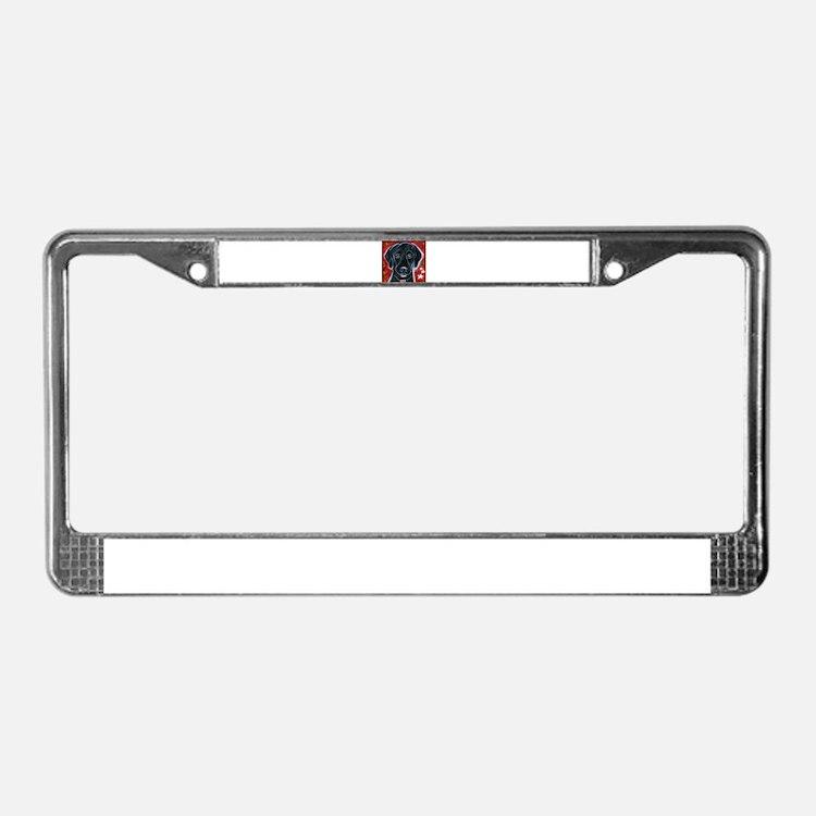 Cute Blk License Plate Frame