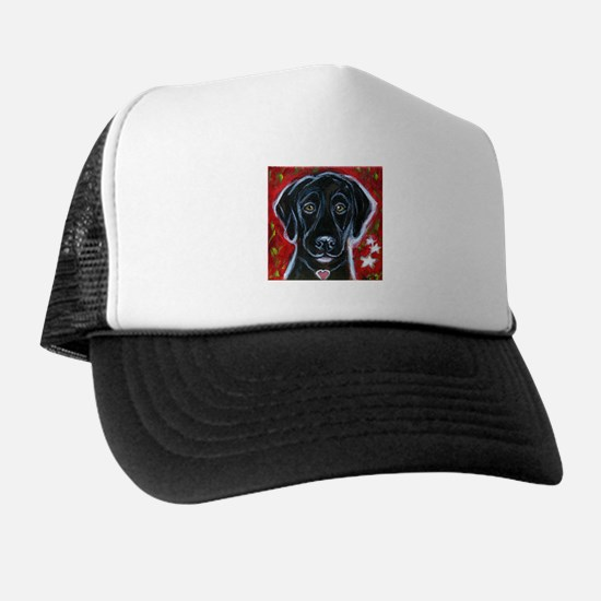 Cute Black labrador retriever Trucker Hat