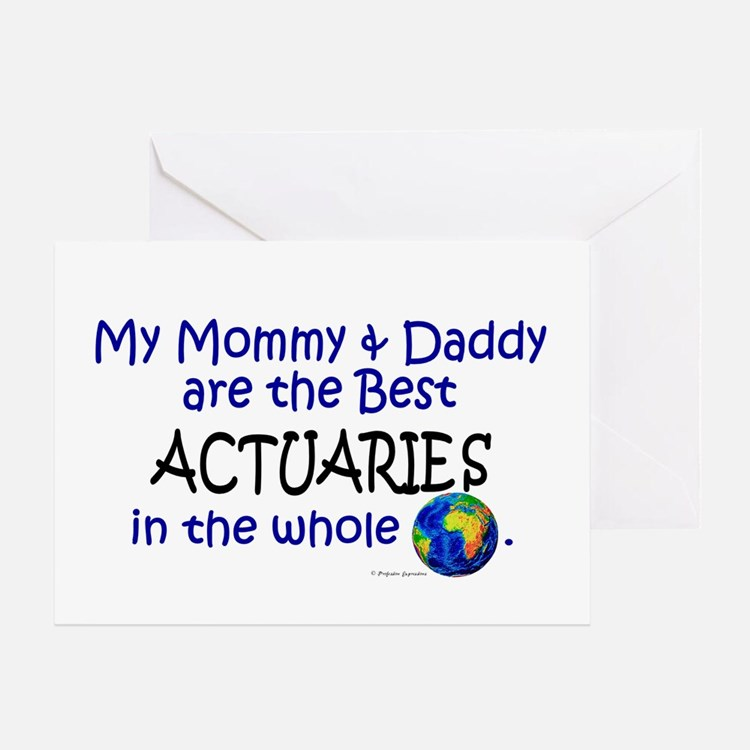 Best Actuaries In The World Greeting Card