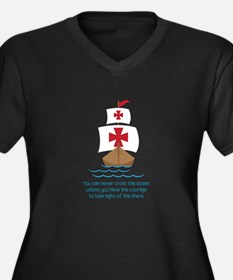 Cross The Ocean Plus Size T-Shirt