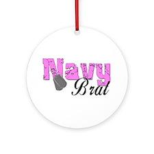 Navy Brat Ornament (Round)