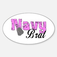 Navy Brat Oval Decal