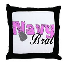 Navy Brat  Throw Pillow