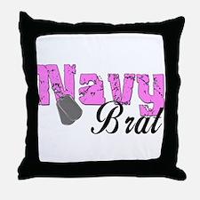 Navy Brat  Throw Pillow