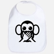 Three Wise Monkeys Iwazaru Speak NO Evil Emoji Bib
