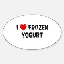 I * Frozen Yogurt Oval Decal