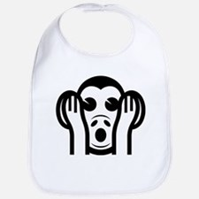 Three Wise Monkeys Kikazaru Hear NO Evil Emoji Bib